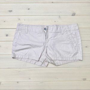 Roxy Tan Ivory Chino Khaki Jean Shorts Size 9 Jr.